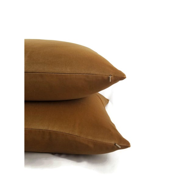 Schumacher F. Schumacher Gainsborough Mocha Velvet Pillow Cover For Sale - Image 4 of 7