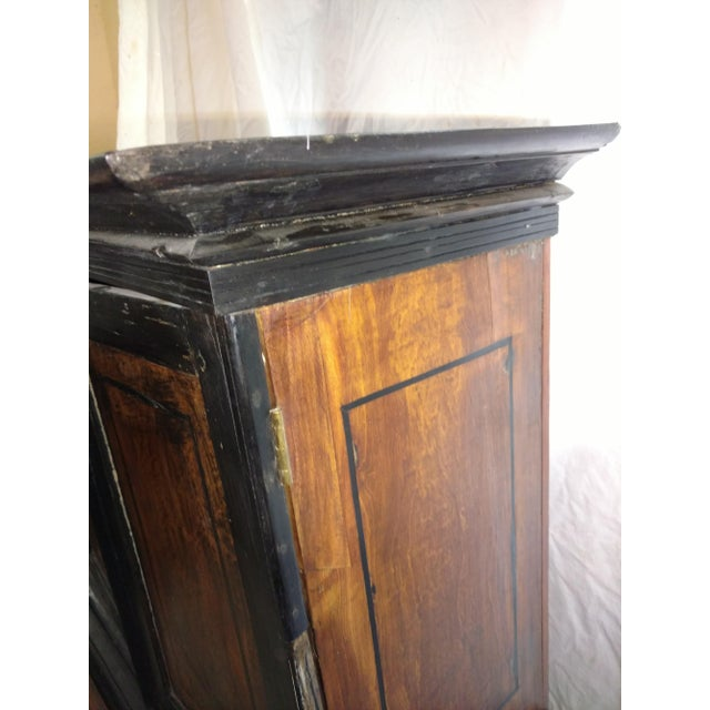 1920s 1920s Anglo Indian Ebony and Satinwood Cupboard For Sale - Image 5 of 12