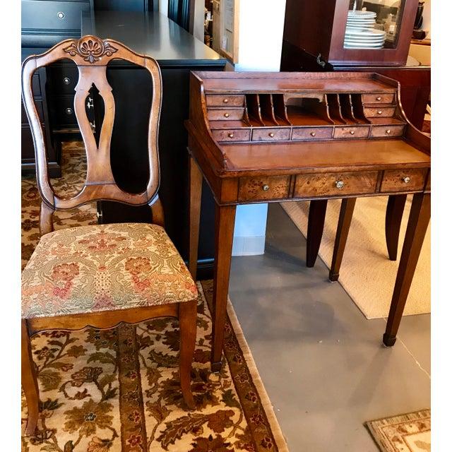 Wood Vintage Ethan Allen Writing Desk For Sale - Image 7 of 8