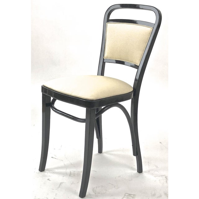 Bentwood Maison Thonet Rare Set of Black Lacquered Bent Wood Five Pieces Set For Sale - Image 7 of 9