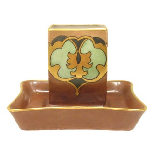 Art Nouveau Match Striker & Ashtray, 1933 For Sale