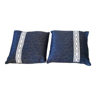 Scalamandre Custom Pillows - a Pair For Sale