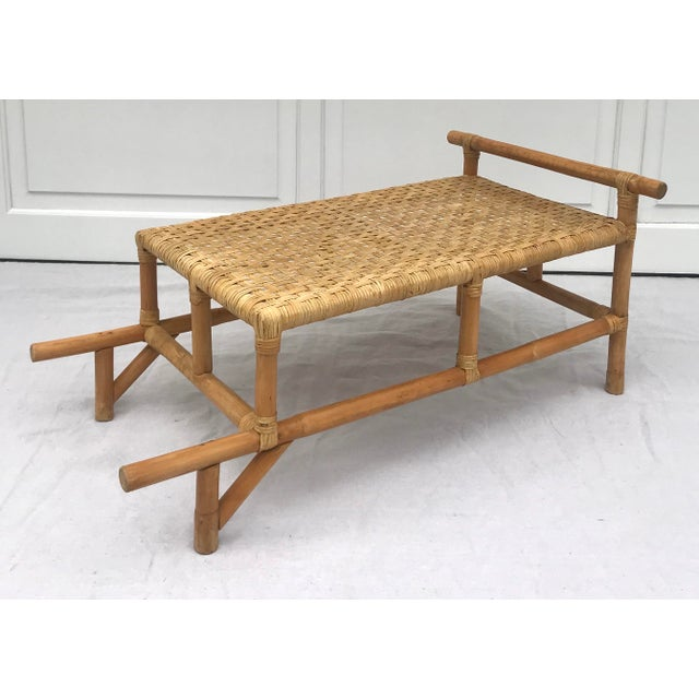 Mid 20th Century Mid 20th Century Bamboo Side Table For Sale - Image 5 of 8