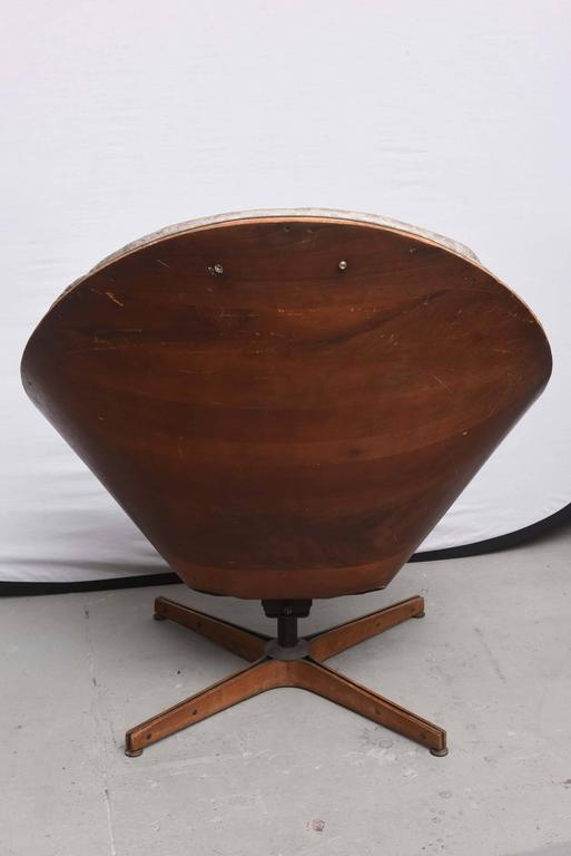 Rare Early Edition Plycraft Swivel Wooden Egg Chair, 1950s, USA   Image 5 Of