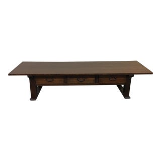 Japanese Low Table With Three Drawers