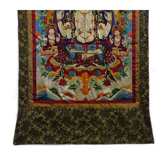Embroidery Tibetan Tara Buddha Thangka Art - Image 4 of 10