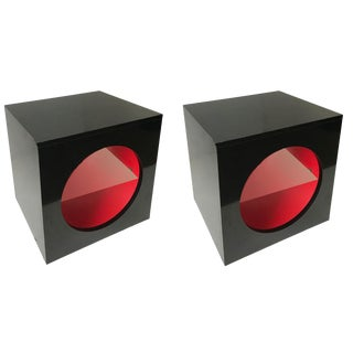 Roche Bobois Night Stand/Side Tables - A Pair For Sale