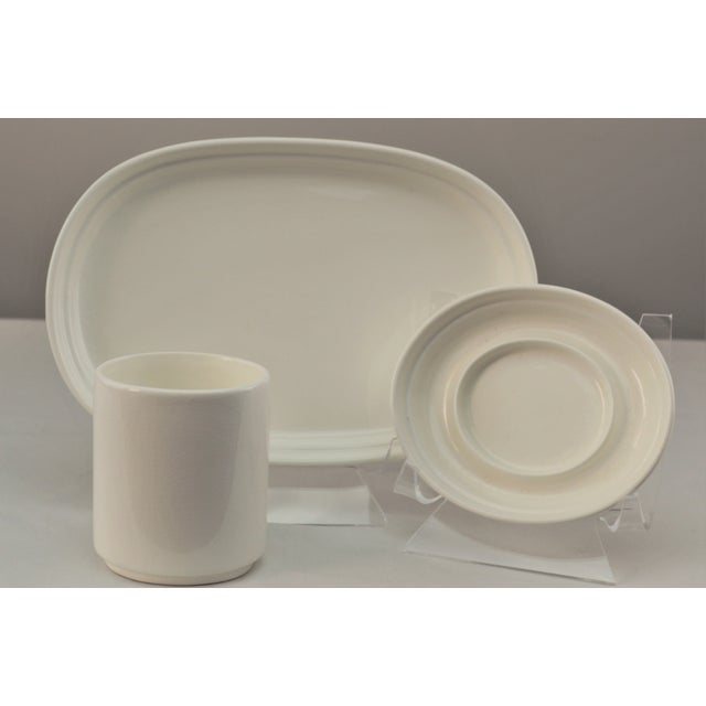 """Karim Rashid design for Mikasa. """"Ovo White"""" ceramic three piece sushi set. The set is in used, but excellent condition...."""
