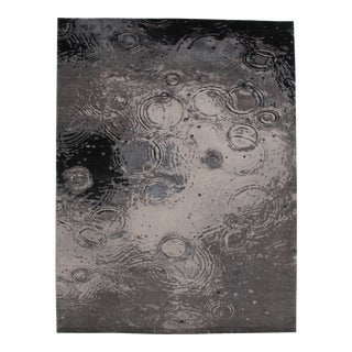 """Pasargad N Y Modern Wool & Bamboo Silk Hand Knotted Area Rug - 9' X 11'11"""" For Sale"""