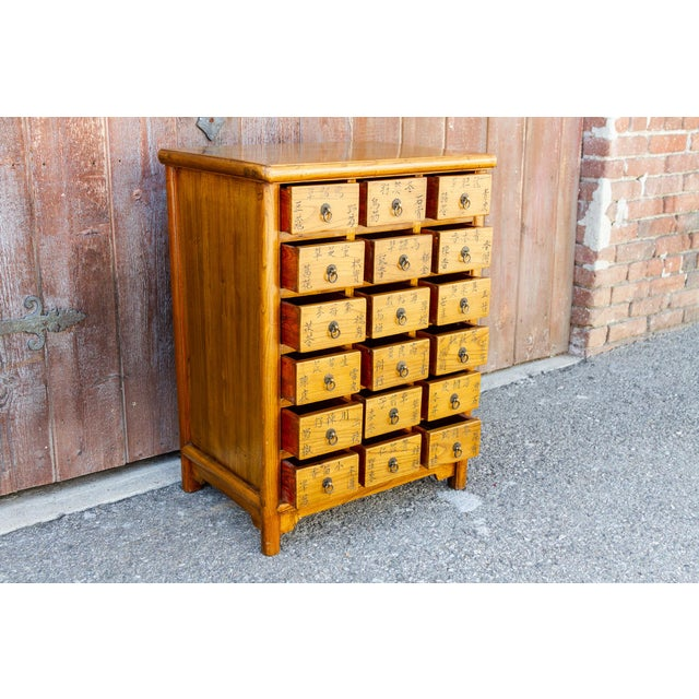 1950s Chinese Elm Apothecary Dresser For Sale - Image 5 of 9