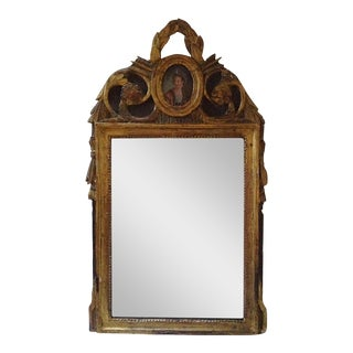 18th Century French Giltwood Mirror For Sale