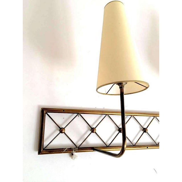 """Contemporary Jean Royère Genuine Two-Light Pair of Sconces, Model """"Tour Eiffel"""" For Sale - Image 3 of 6"""
