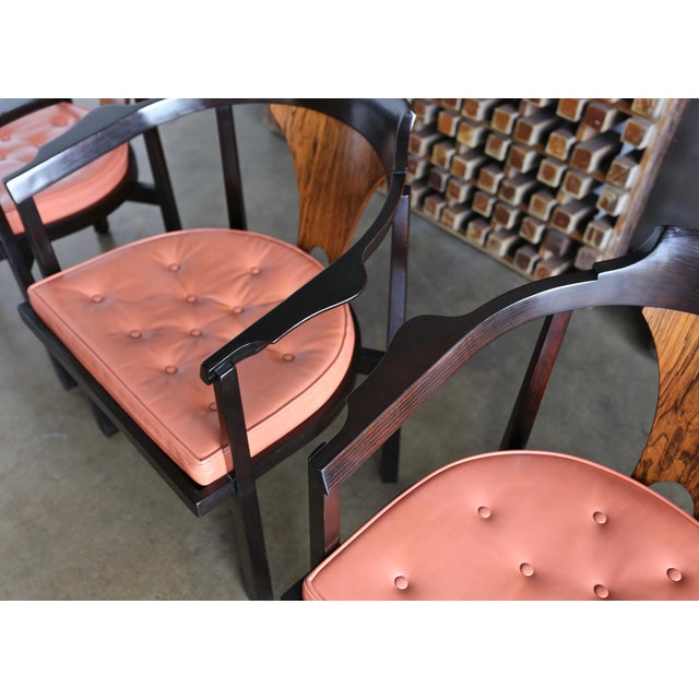 "1950s Set of Four ""Horseshoe"" Chairs by Edward Wormley for Dunbar For Sale - Image 5 of 13"