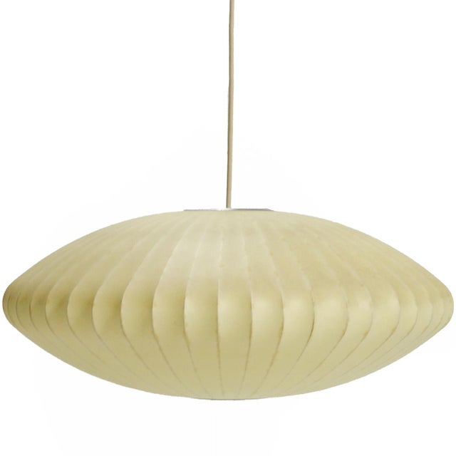 George Nelson Medium Saucer Bubble Lamp by Howard Miller For Sale In Chicago - Image 6 of 6
