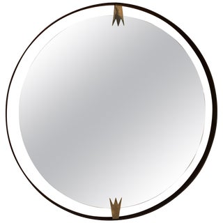 Ma39 Giant Iron Round Wall Mirror For Sale