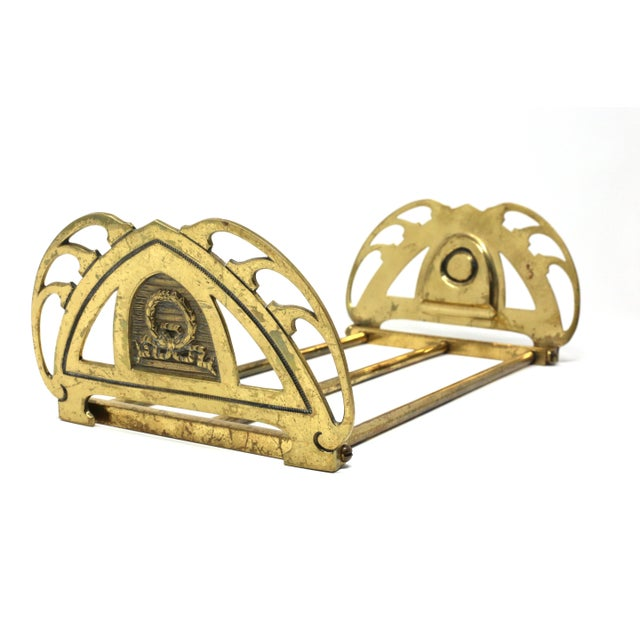 Vintage Folding Brass Wreath and Ribbon Book Holder For Sale - Image 10 of 10