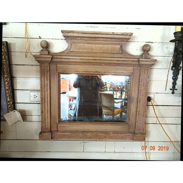 19th Century French Oak Mirror For Sale - Image 11 of 11