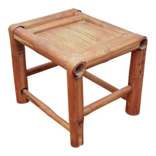 Small Bamboo Display Stool / Riser For Sale