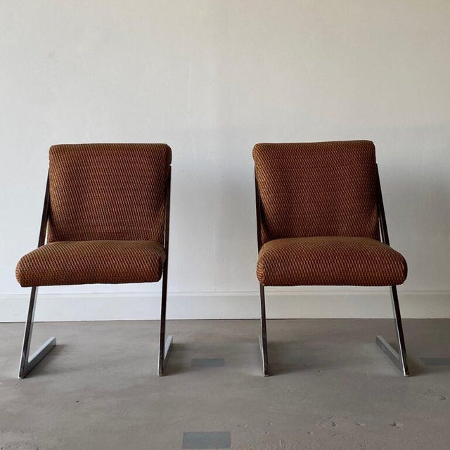 Plastic Mid-Century Synthetic Rattan Chairs - A Pair For Sale - Image 7 of 8