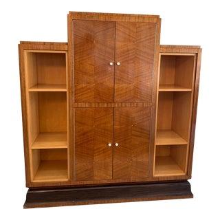 Art Deco Veneered Bar Cabinet For Sale