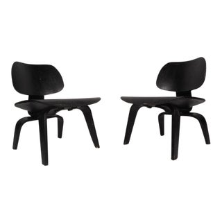 Charles Eames Dcw Ebonized Side Chairs for Herman Miller - a Pair For Sale