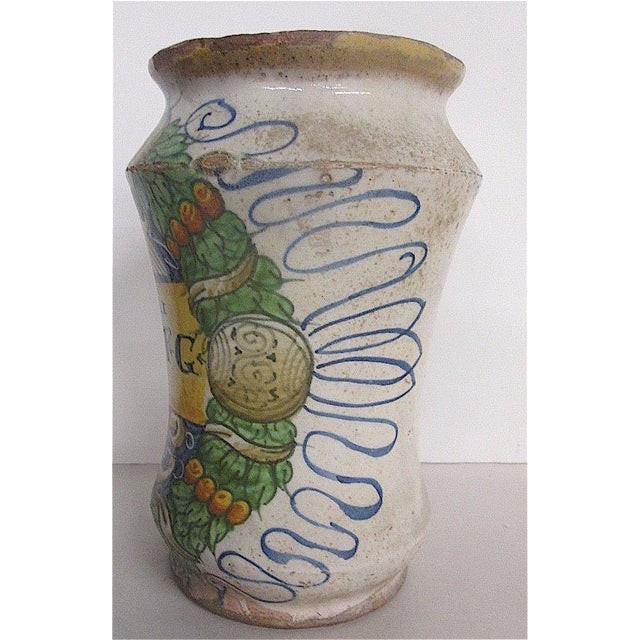 16th C. Italian Majolica Albarello Pharmacy Jar - Image 4 of 11
