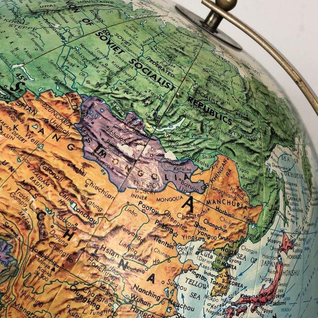 Vintage Replogle World Nations Series Globe For Sale - Image 10 of 11