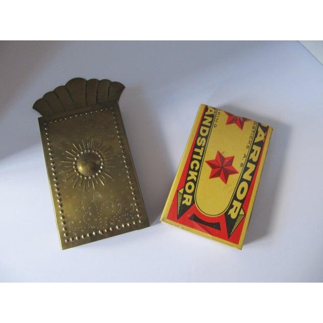 Vintag Brass Starburst Match Stick Holder For Sale - Image 6 of 6
