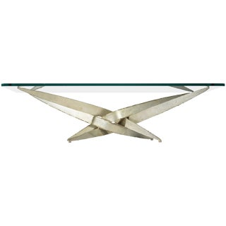 Large Silas Seandel Torch Cut Coffee Table For Sale
