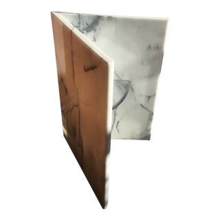 Carrera White Marble Side Table Base For Sale