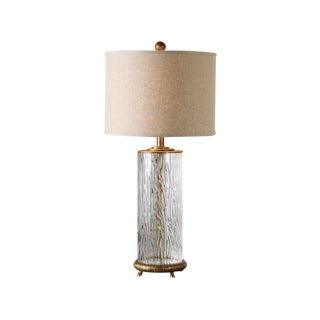 Rain Glass Textured Lamp For Sale
