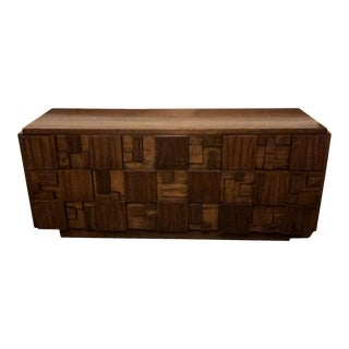 1950s Brutalist Paul Evans for Lane Furniture Mosaic Chest of Drawers For Sale