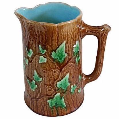 Antique English Majolica Ivy & Bark Jug - Image 1 of 4