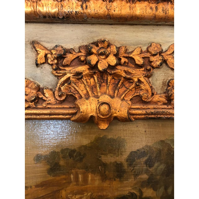 Wood 19th Century Painted French Trumeau Mirror For Sale - Image 7 of 10