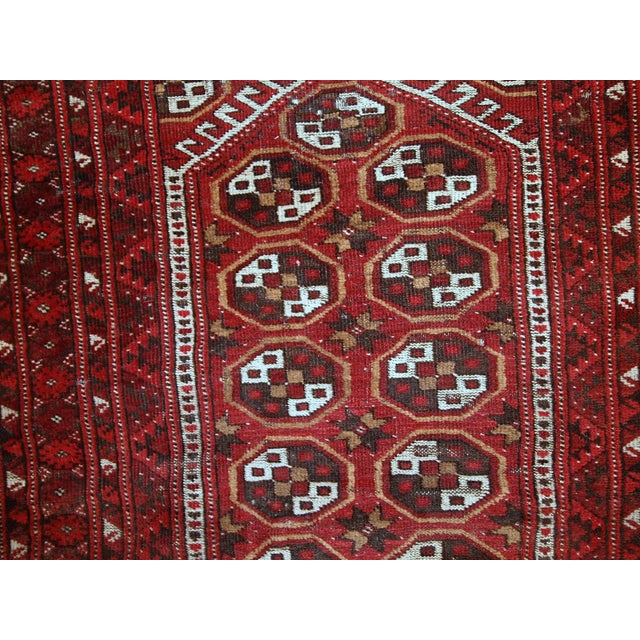 Afghan 1920s Antique Afghan Adraskand Hand Made Prayer Rug - 2'7'' X 3'7'' For Sale - Image 3 of 10