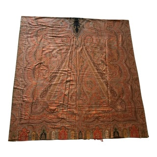 19th C. Very Large Antique Paisley Throw