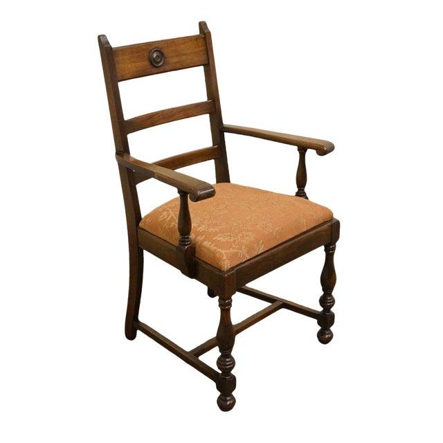 1940s Antique Walnut Dining Armchair - 1940s Antique Walnut Dining Armchair Chairish