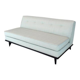 Vintage Mid Century John Widdicomb Loveseat Couch For Sale