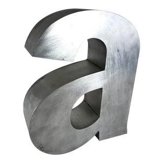 Matthew Kim Aluminum Letter 'A' Sculpture For Sale