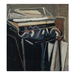20th Century Blue Abstract Still Life Painting by Daniel Clesse For Sale
