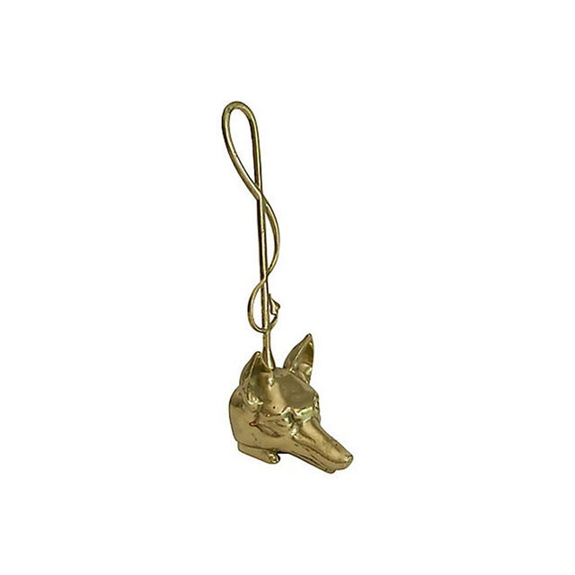 Footed Brass Fox Doorstop For Sale - Image 4 of 4