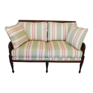 "Baker Furniture Milling Road Walnut ""English Cottage"" Settee MR5071L"