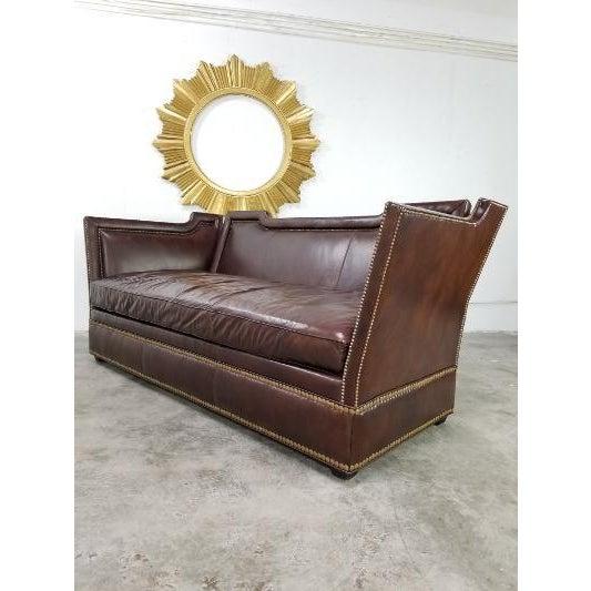 Ferguson Copeland Leather Sofa by Ferguson Copeland For Sale - Image 4 of 13