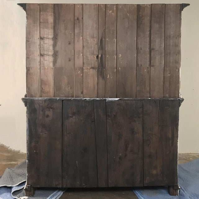 19th Century Country French Rustic Whitewashed Bookcase ~ Cabinet For Sale - Image 12 of 13