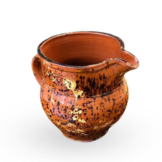Mid 19th Century French 19th Century Red-Ware Pitcher For Sale - Image 5 of 7