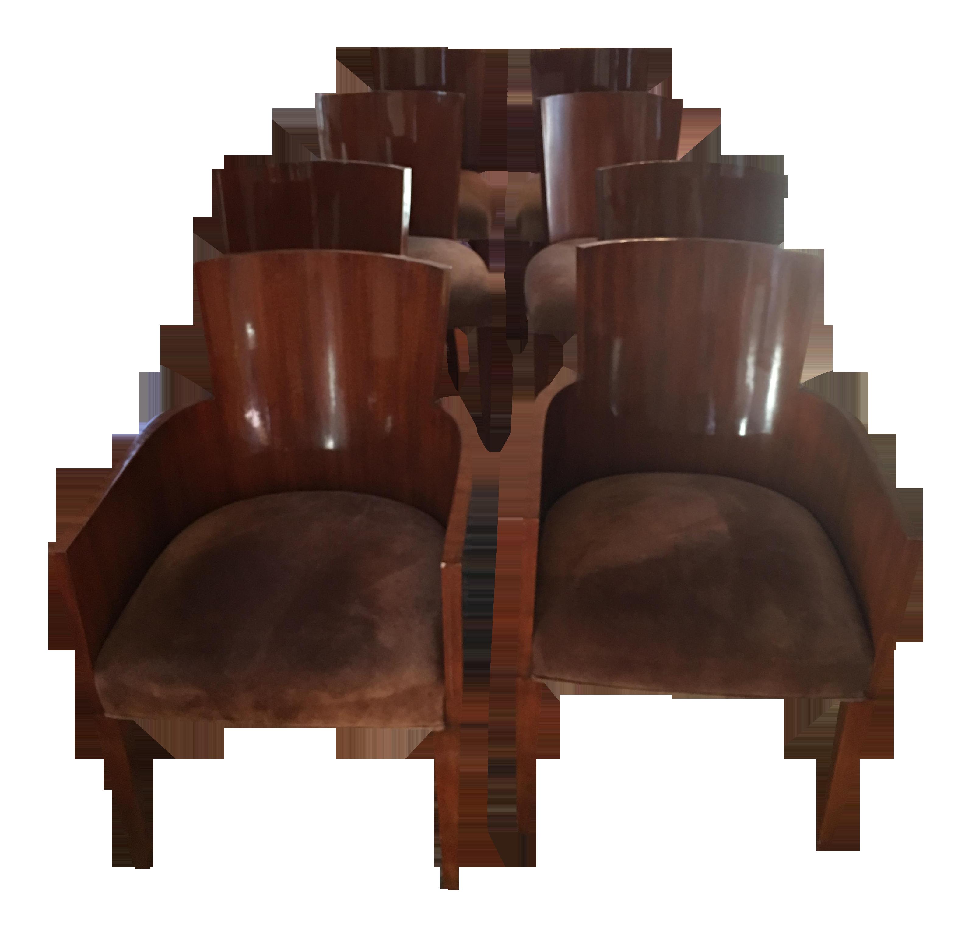 Beau Ralph Lauren Modern Hollywood Chairs   Set Of 8