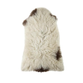 "Long Wool Sheepskin Pelt, Handmade Rug 2'0""x3'3"" For Sale"