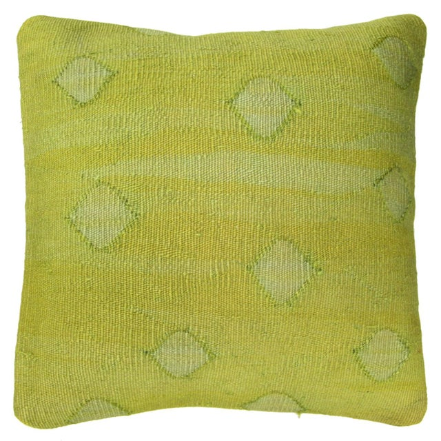 Chartreuse Kilim Pillow - Image 1 of 2