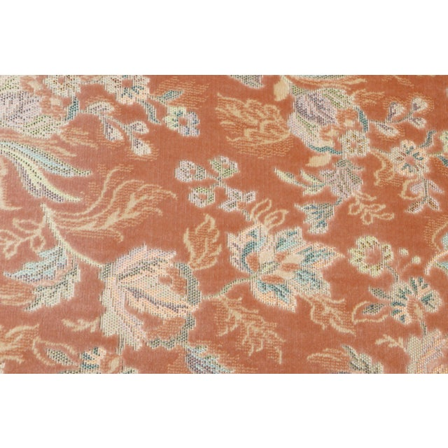 Wood Floral Wingback Chairs in Blush - a Pair For Sale - Image 7 of 8
