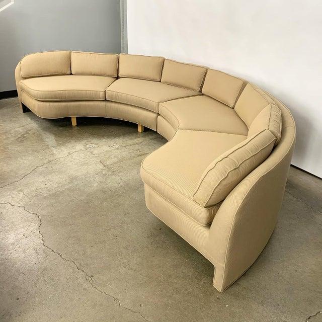 Modern Vladimir Kagan Style Large Curved Sofa